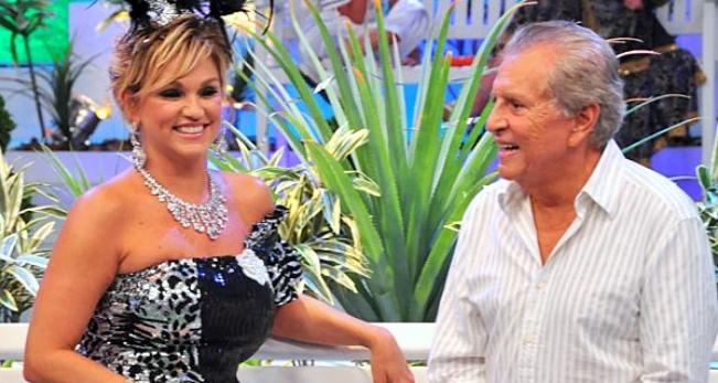 Andréa de Nóbrega e Carlos Alberto de Nóbrega (Foto: Divulgação/SBT)