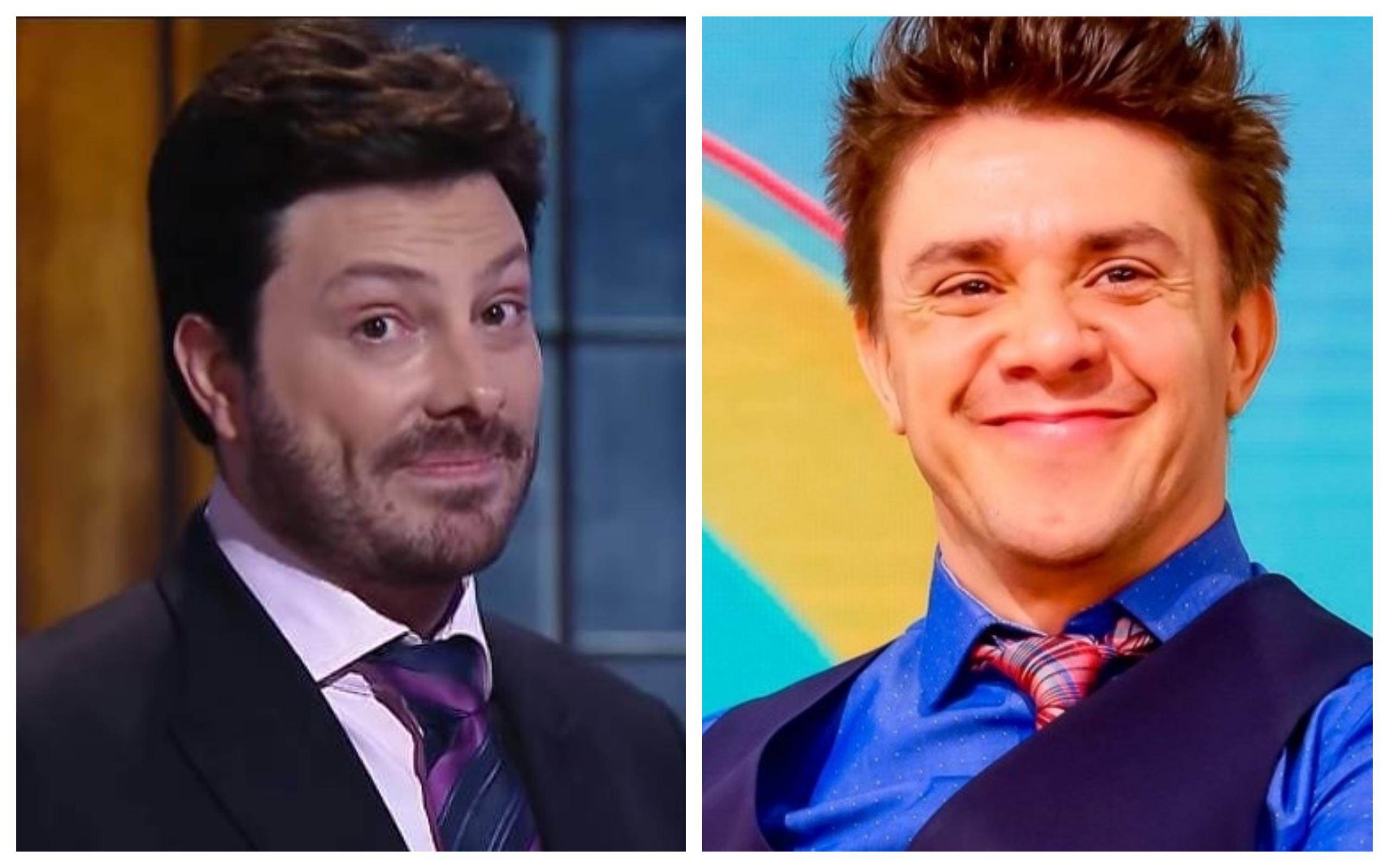 O apresentador Danilo Gentili e o comediante Oscar Filho foram vítimas de boatos de namoro mais uma vez (Foto: Divulgação / TV Foco)