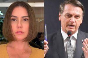 Deborah Secco diz que ficou triste e chocada após fala de Bolsonaro sobre Bruna Surfistinha (Montagem: TV Foco)