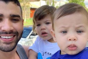 Gusttavo Lima, Gabriel e Samuel (Foto: Reprodução/Instagram)