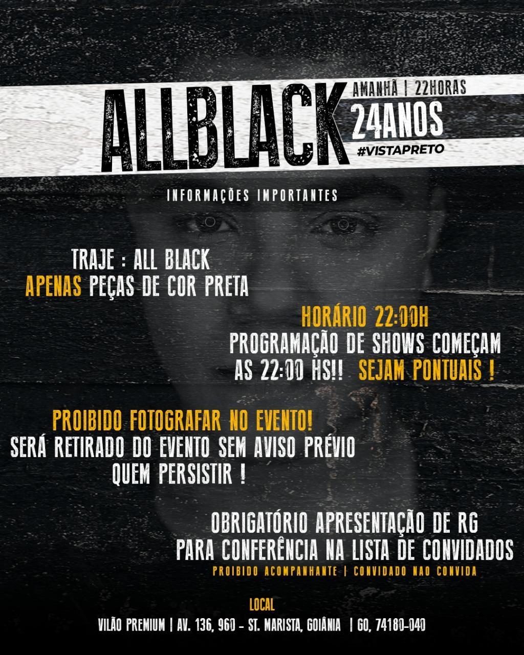 O convite da festa de Felipe Araújo com as restrições (Foto: Reprodução)
