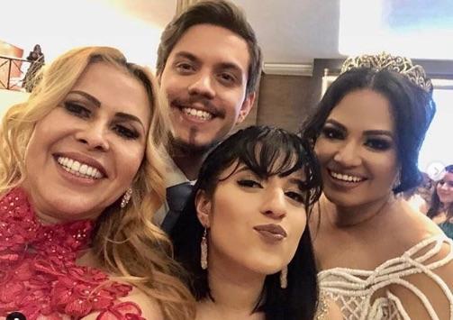 Joelma no casamento da filha mais velha (Foto: Reprodução/Instagram)