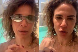 Apresentadora Luciana Gimenez descabelada (Foto: Montagem/Instagram)