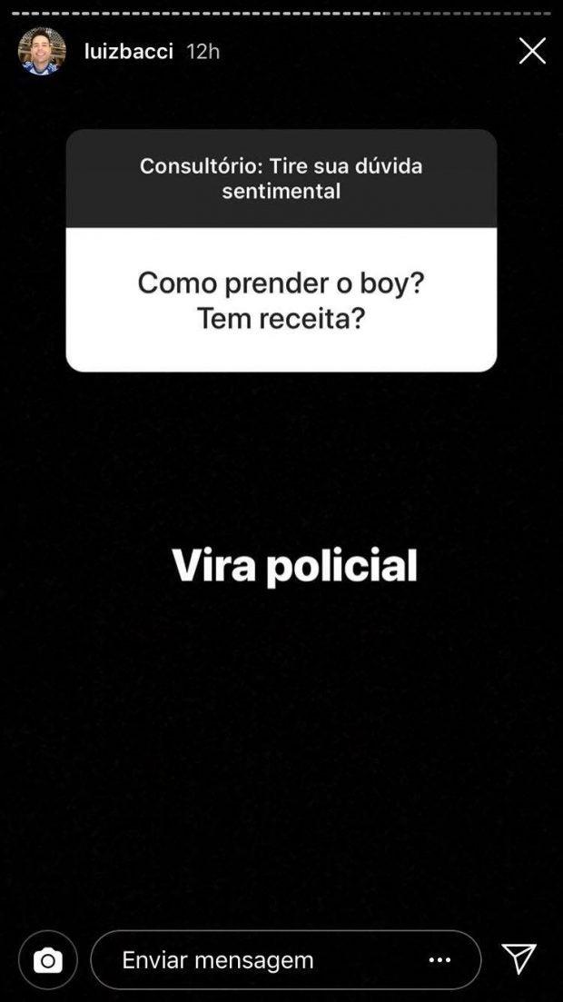 Luiz Bacci da Record vira conselheiro amoroso nas Redes Sociais (Imagem: Instagram)