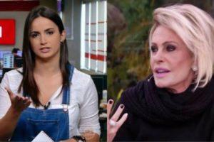 Ana Maria Braga não citou o nome de Mari de Palma em última reportagem da jornalista que deixou a Globo para ter programa no CNN (Montagem/TV Foco)