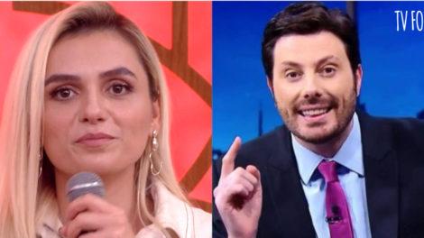 Danilo Gentili é apresentador do SBT e Monica Iozzi é atriz da Globo