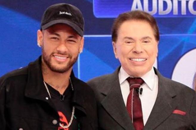 Neymar participou do Programa Silvio Santos no SBT junto com Patricia Abravanel (Foto: Reprodução/Instagram)