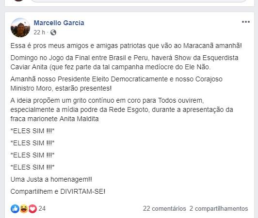 """Irmão de Márcio Garcia se descontrola, ataca Anitta e Globo e dispara: """"Rede Esgoto"""" (Foto: Reprodução)"""