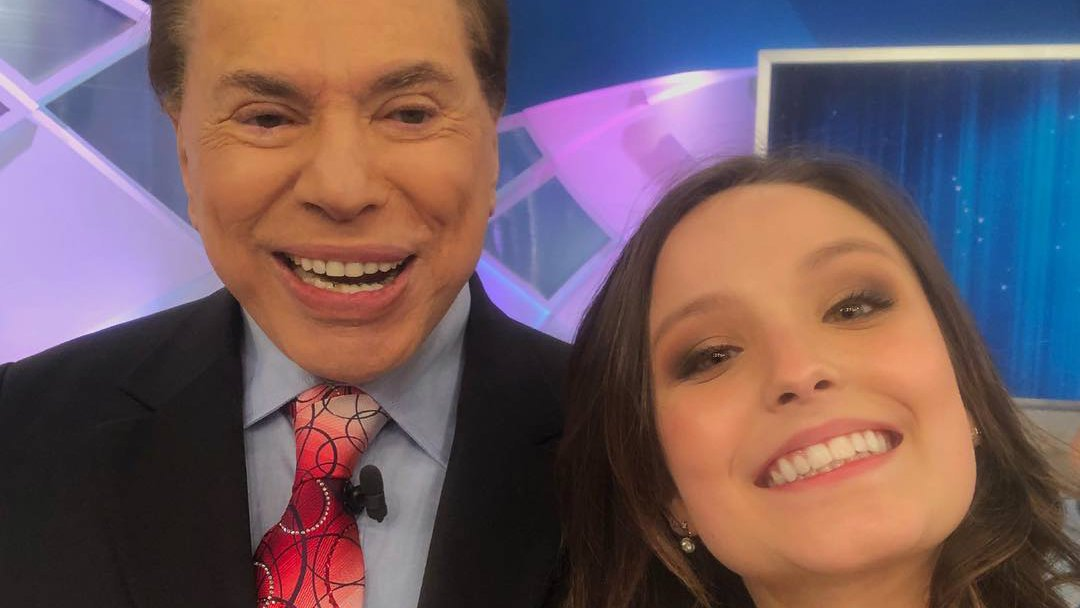 Silvio Santos e Larissa Manoela (Foto: Reprodução)