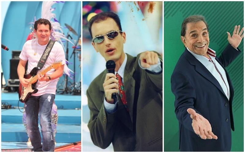 O ex-marido da cantora Joelma, Ximbinha, o ex-apresentador do SBT, Rodolfo e o ex-integrante dos Trapalhões, Dede Santana (Foto: Montagem)