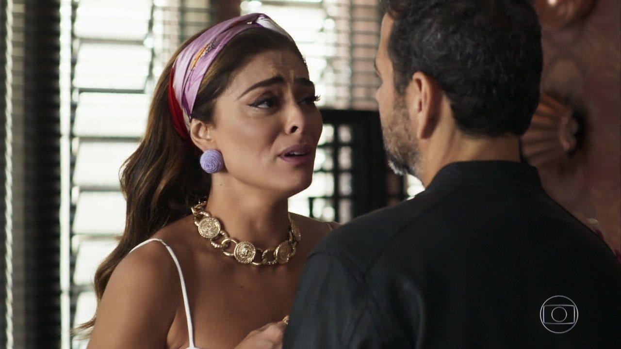 Maria da Paz (Juliana Paes) salvará a vida de Amadeu (Marcos Palmeira) em A Dona do Pedaço da Globo