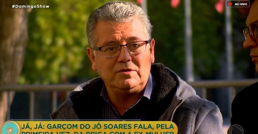 Alex era garçom do Programa do Jô, na Globo (Foto: Reprodução)