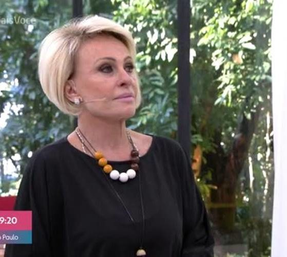 A apresentadora Ana Maria Braga não segurou a emoção durante o Mais Você (Foto: Divulgação)