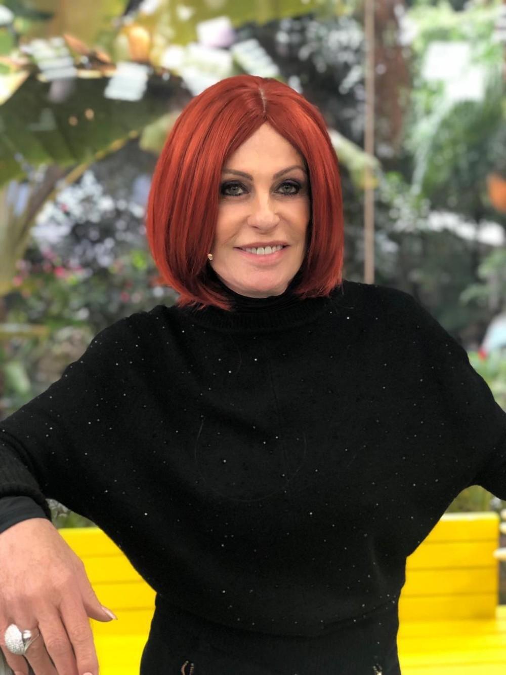 Ana Maria Braga surge com peruca ruiva no 'Mais Você' da Globo Foto: Reprodução