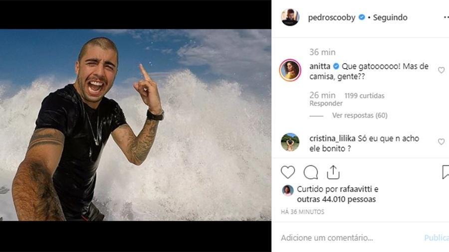 Anitta fez questão de elogiar Pedro Scooby, enquanto ele era detonado