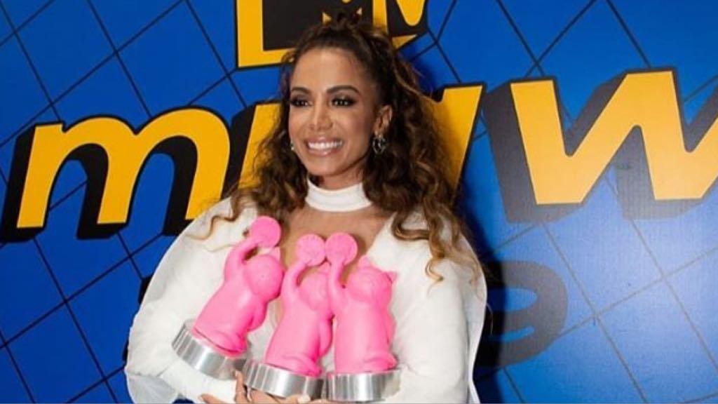 Anitta na Premiação do MTV Miaw em São Paulo (Foto Instagram)