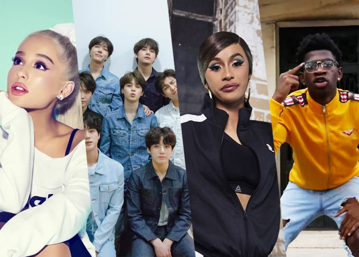 Ariana Grande, Cardi B e BTS estão entre os mais influentes do mundo (Foto: Reprodução)