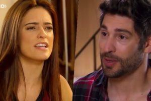 Débora (Lisandra Parede) e Afonso (Victor Pecoraro) formam um casal em As Aventuras de Poliana do SBT