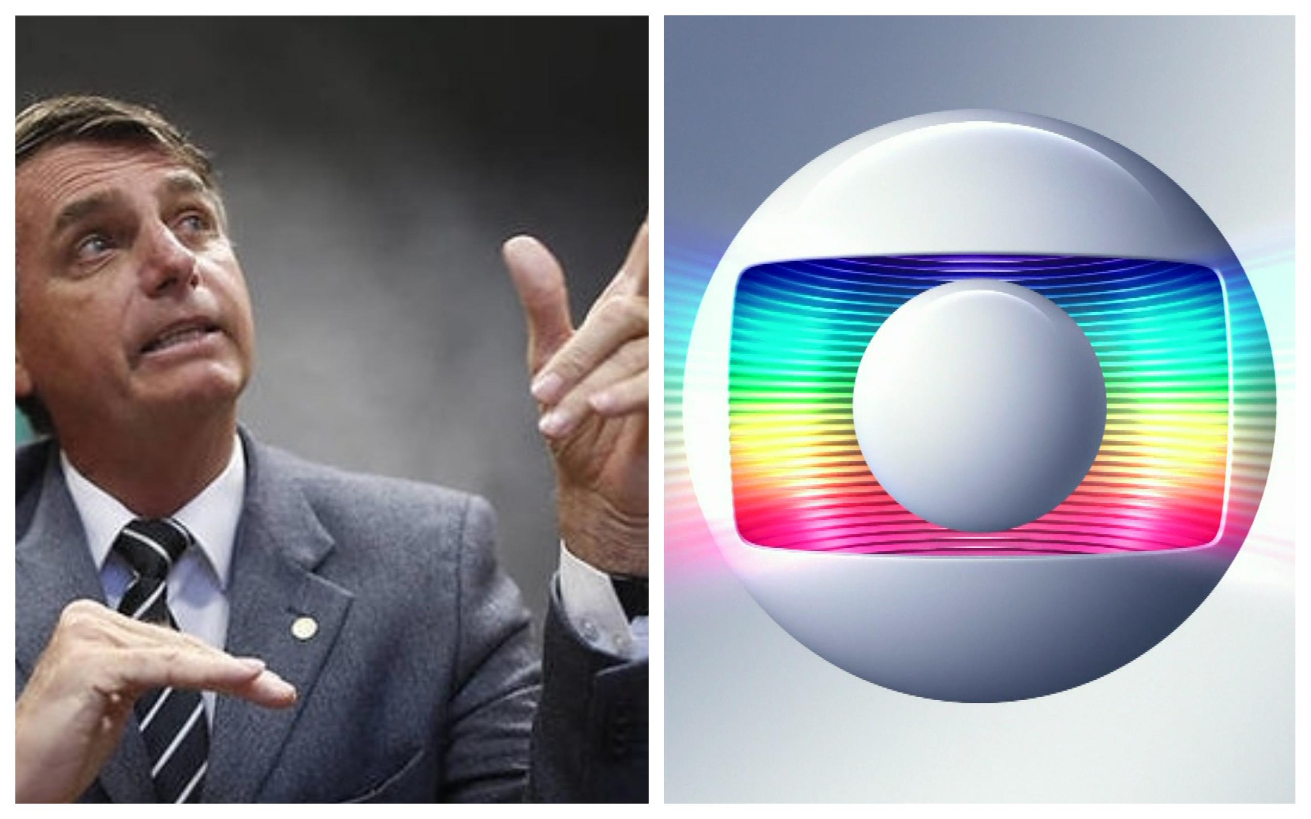 Bolsonaro em pé de guerra com a Globo (Foto: Reprodução / TV Foco)