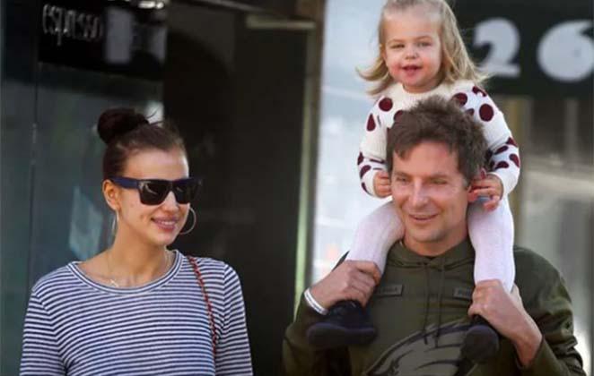 Bradley Cooper, Irina Shayk e filha (Foto: Reprodução)