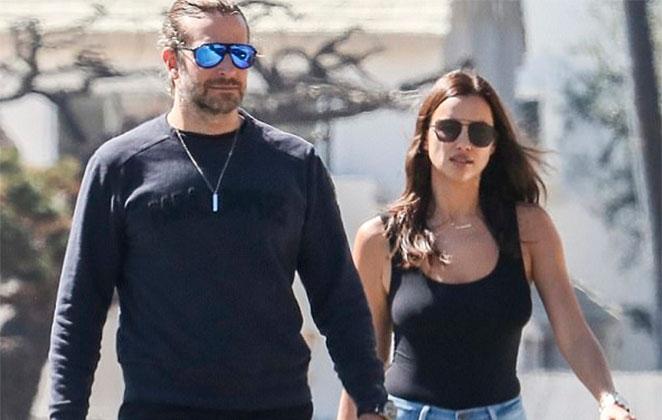 Bradley Cooper e Irina Shayk fazem acordo (Foto: Reprodução)