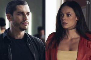 Camilo (Lee Taylor) vai aterrorizar Vivi (Paolla Oliveira) após traição em A Dona do Pedaço (Foto: Reprodução/Globo)