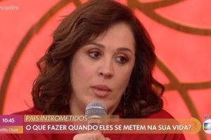 Claudia Raia no Encontro com Fátima Bernardes da Globo (Foto: Reprodução)