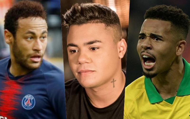 Felipe Araújo faz dura proibição em seu aniversário para convidados como Neymar, Gabriel Jesus, Miranda Foto: Montagem TV Foco