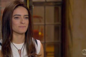 Débora (Lisandra Cortez) na novela em As Aventuras de Poliana do SBT (Foto: Reprodução)