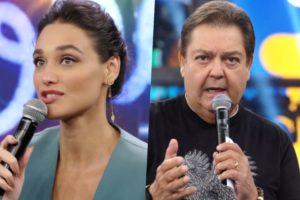 Débora Nascimento se deparou com saia justa em participação no Faustão na Globo após separação de José Loreto(Foto reprodução)