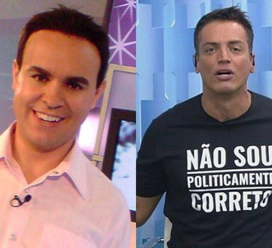Diretor do Fofocalizando, Caco Rodrigues e o apresentador Leo Dias (Foto: Divulgação)
