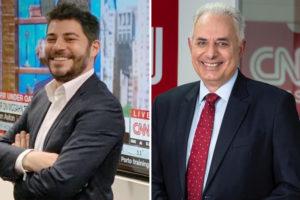 Evaristo Costa e William Waack, apresentadores da CNN Brasil (Foto: Divulgação/CNN Brasil/Montagem)