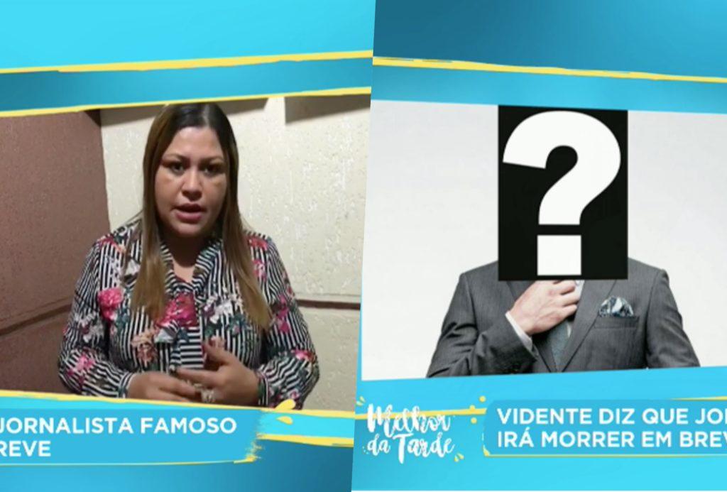 Vidente revela que famoso jornalista vai acabar morrendo caso não leia carta enviada por ela (Foto reprodução Melhor da Tarde - Band)
