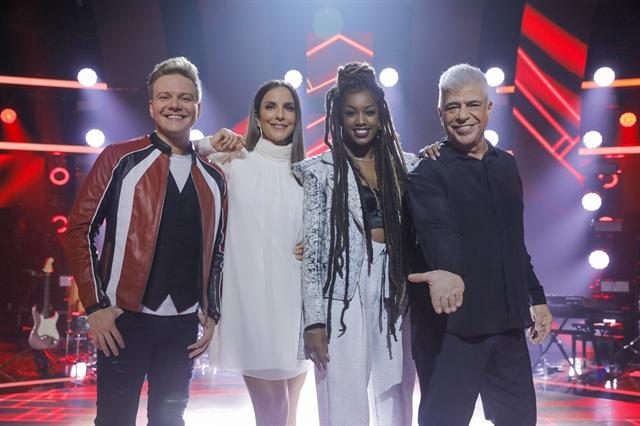 Michel Teló, Ivete Sangalo, Iza e Lulu Santos (Foto: Globo/ Victor Pollak)
