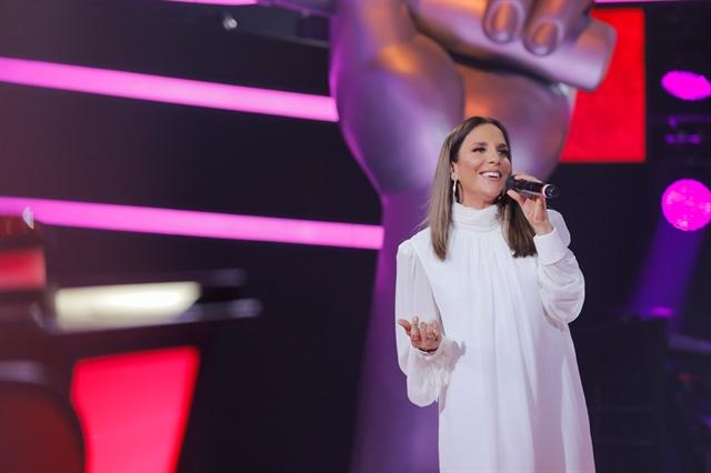 Ivete Sangalo durante apresentação no lançamento do The Voice Brasil 8 (Foto: Globo/Victor Pollak)