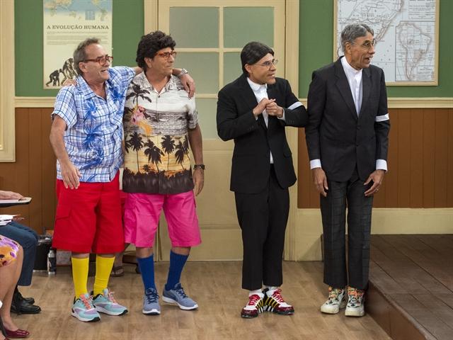 Antigos e novos atores dos personagens da Escolinha (Foto: Globo/Estevam Avellar)
