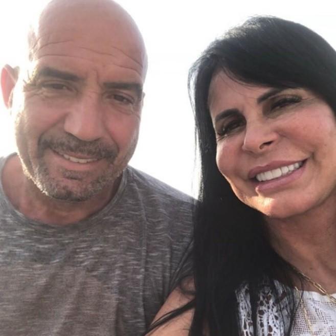 Gretchen e o marido (Foto: Reprodução)