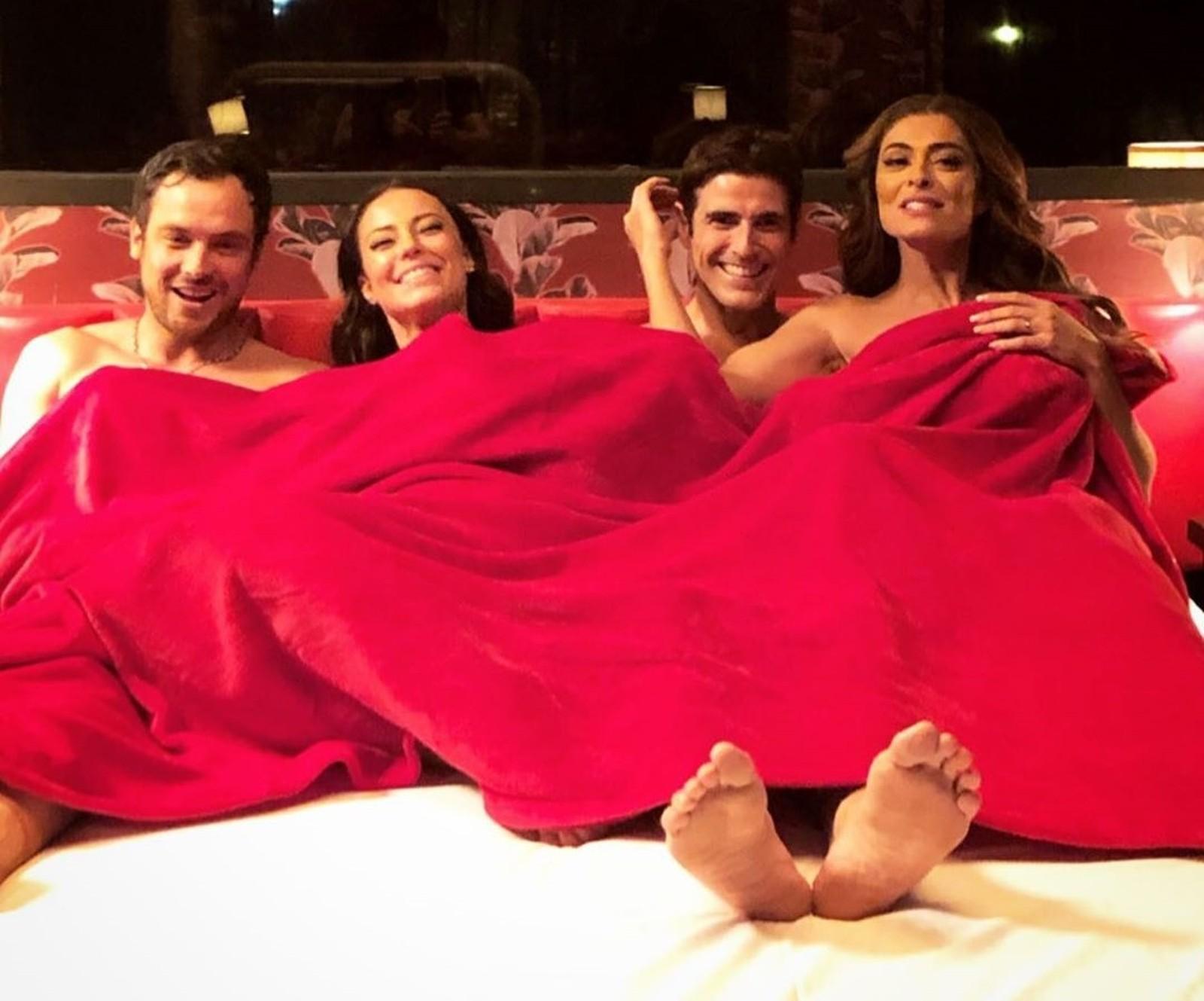 Sérgio Guizé, Paolla Oliveira, Reynaldo Gianecchini e Juliana Paes (Foto: Reprodução / Instagram)