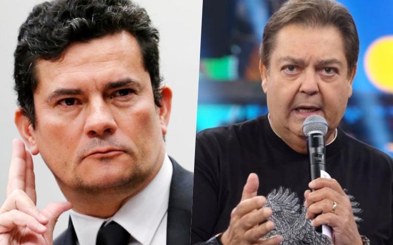 Faustão, da Globo tem diálogos vazados com Sérgio Moro e se pronuncia oficialmente sobre encontro sigiloso Foto: Reprodução