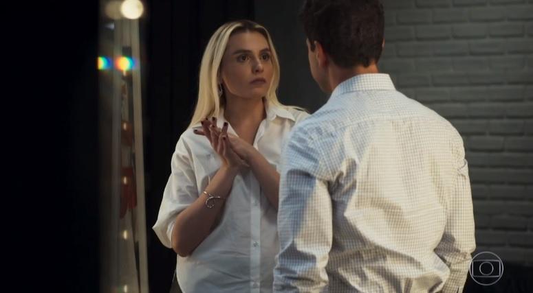 Kim e Marcio em cena de A Dona do Pedaço da Globo (Foto: Reprodução)