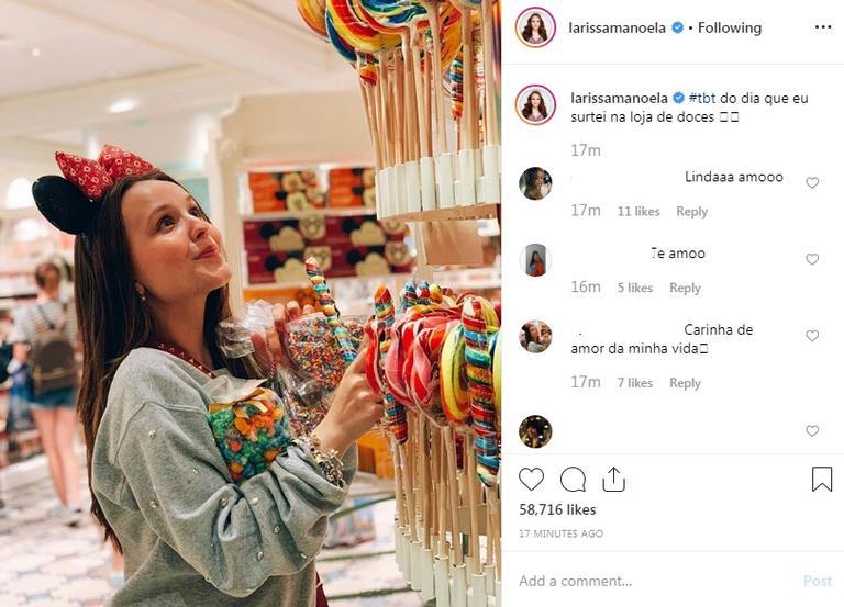 Larissa Manoela surpreende ao aparecer ostentando riqueza em loja de doces (Foto: Reprodução)