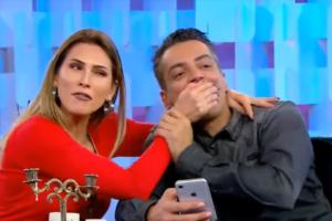 Leo Dias e Lívia Andrade mantém uma grande amizade (Foto: Reprodução/ SBT)