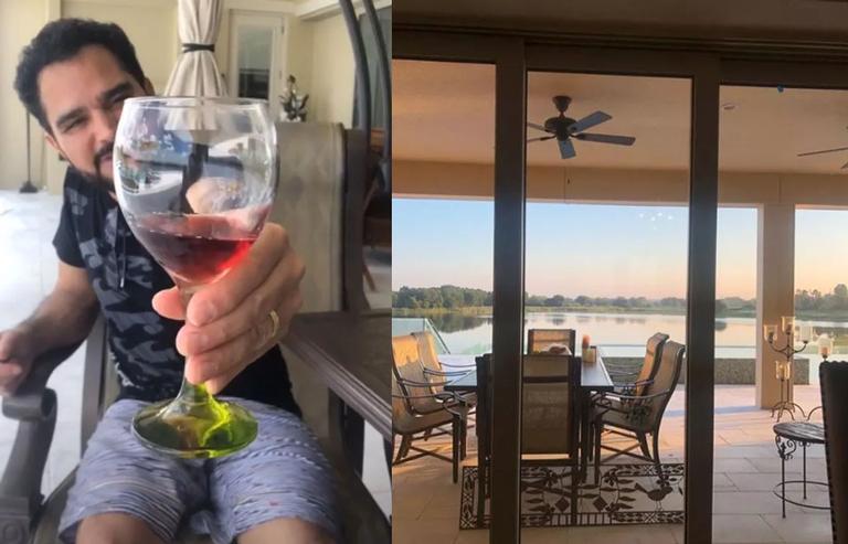Sertanejo Luciano Camargo mostrou sua mansão nos Estados Unidos aos fãs Foto: Reprodução/Internet