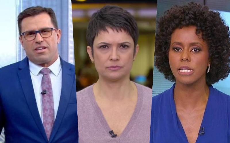 Sandra Annenberg, Maju Coutinho, Rodrigo Bocardi; descubra os salários dos jornalistas da Globo mais amados do Brasil Foto: Reprodução