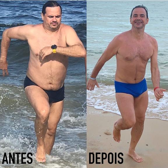 O ex-Pânico, Márvio Lúcio mais conhecido como carioca perdeu 10 kilos no desafio 12 semana (imagem: Instagram)