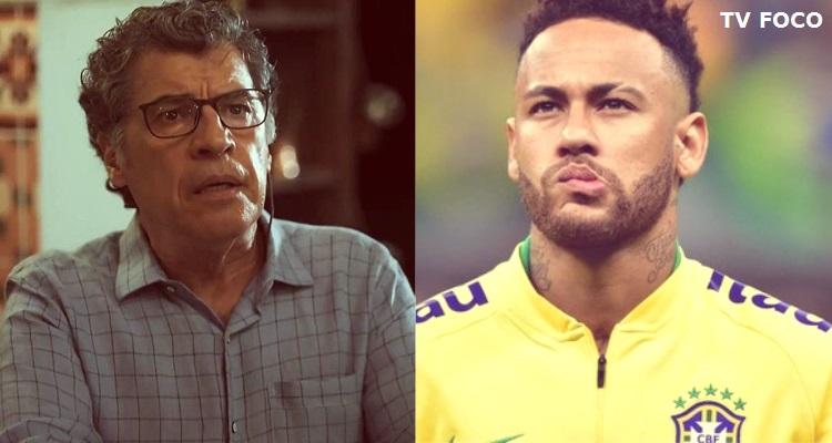 O jogador Neymar e o ator Paulo Betti