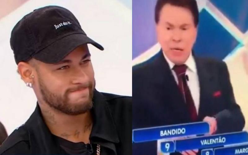 """Silvio Santos humilha Neymar no SBT, plateia se revolta e xinga apresentador: """"marginal"""" Foto: Reprodução"""