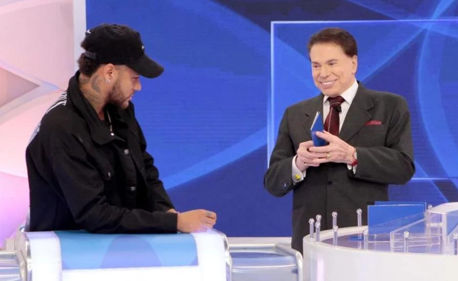 Neymar e Silvio Santos falaram sobre Anitta no Jogo das 3 Pistas (Foto: Divulgação)