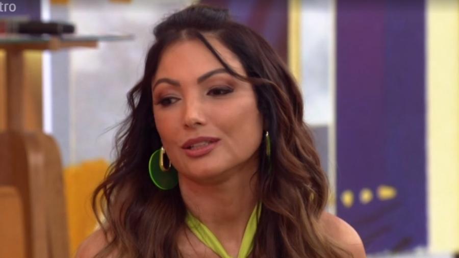 Patrícia Poeta se emociona ao vivo na Globo durante Encontro com Fátima Bernardes. Foto: Reprodução/Globo