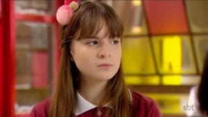 Poliana (Sophia Valverde) em cena na novela As Aventuras de Poliana, trama infantil do SBT (Foto: Reprodução)